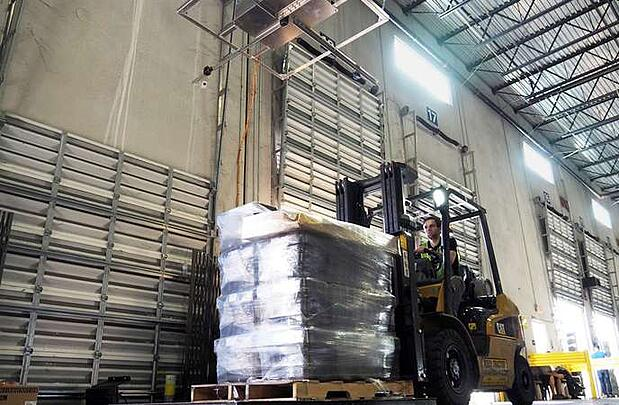 Warehouse Technology - Pallet Dimensioning System