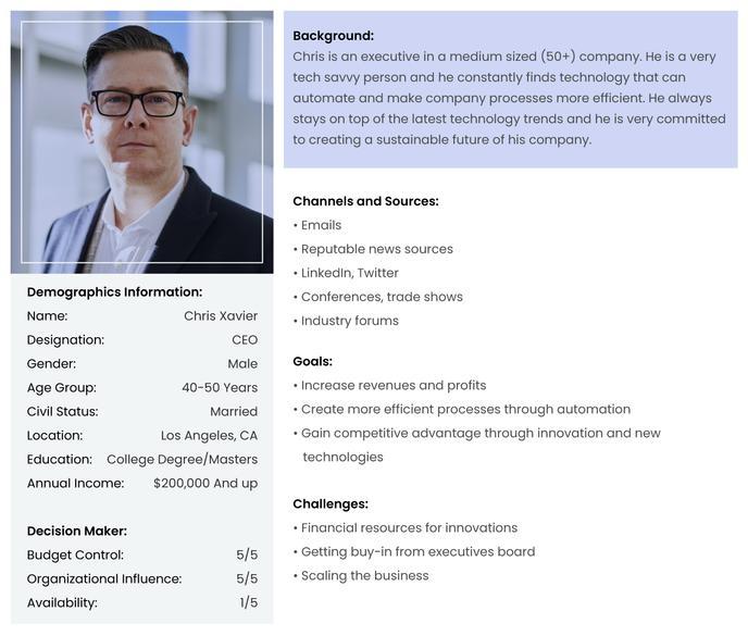 Logistics Marketing Plan - Buyer Persona