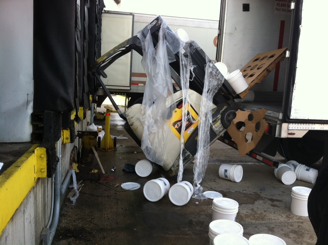 forklift warehouse dock accidents