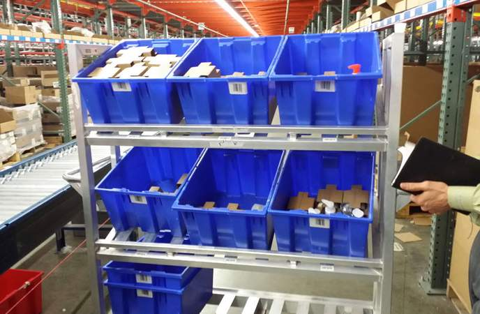 Warehouse Picking Carts - Inventory Packaging