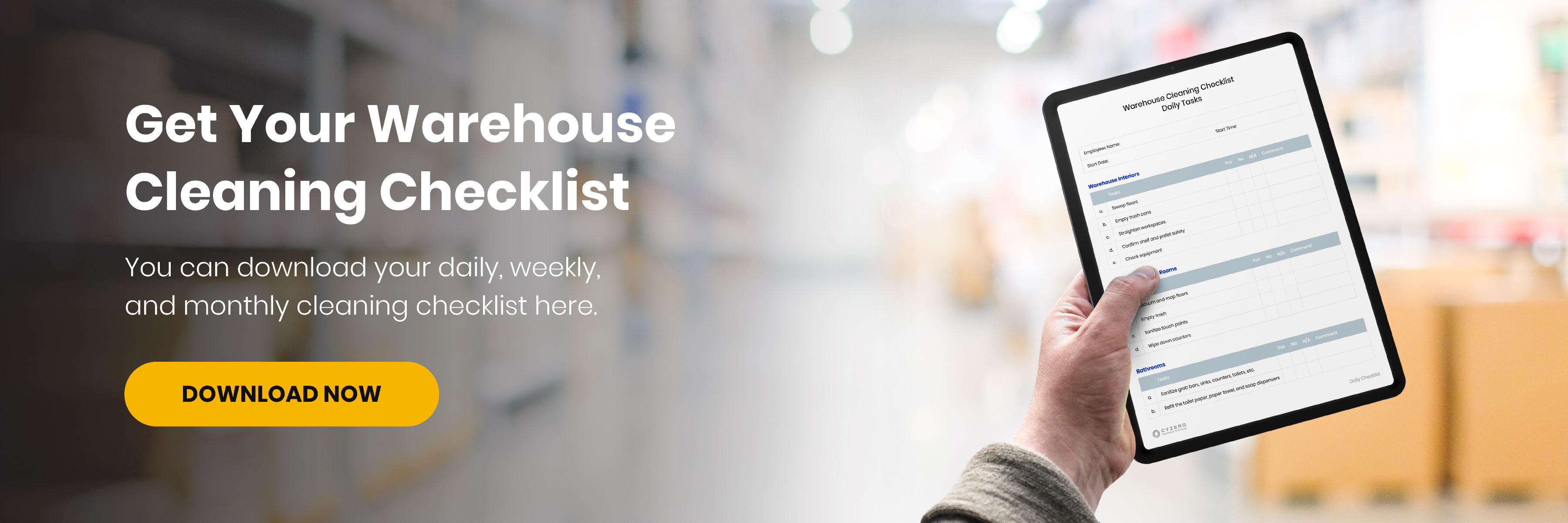 Warehouse Cleaning Checklist | Warehouse Organization