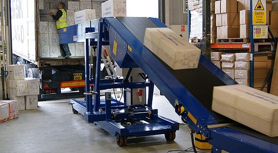 Warehouse Receiving - Boom Conveyors